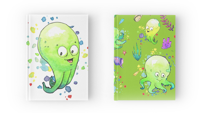Octobaby Pattern Design Hard Cover Note Books - Bill Schiffbauer