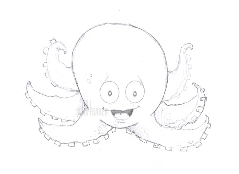 Octobaby Pencil Sketch - Bill Schiffbauer