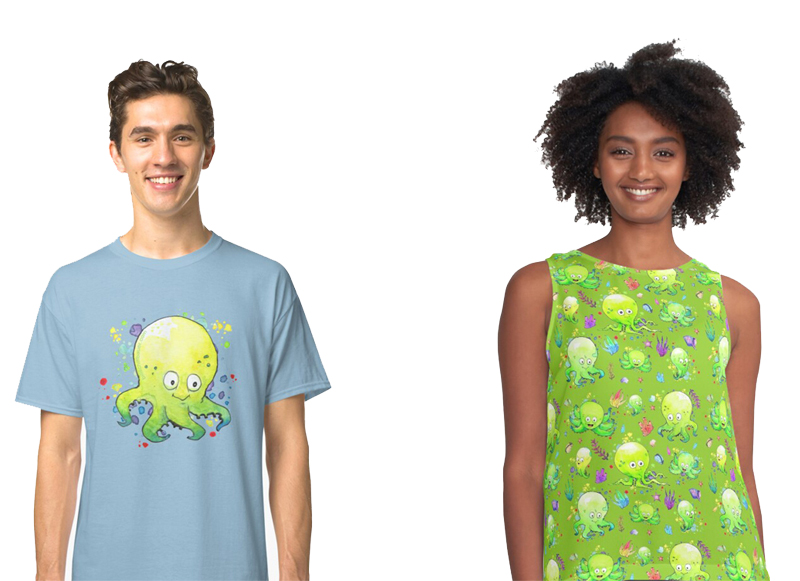 Octobaby Custom Pattern Designed Shirts - Bill Schiffbauer