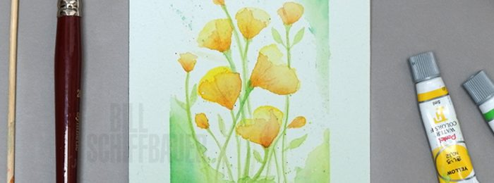Watercolor Buttercups Stationery Cards