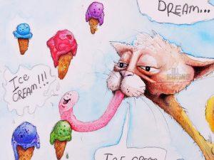 Cats Do Dream (Ice cream dreams)